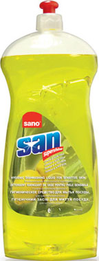Sanosan Liquid Dish Soap - Aloe Vera-Lemon Tea ср-во для мытья посуды 0,75л